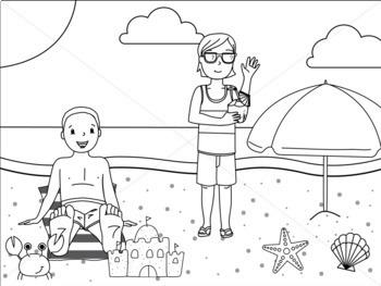 Summer Kids Clip Art: At The Beach Clipart