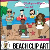 Summer Kids Clip Art: At The Beach