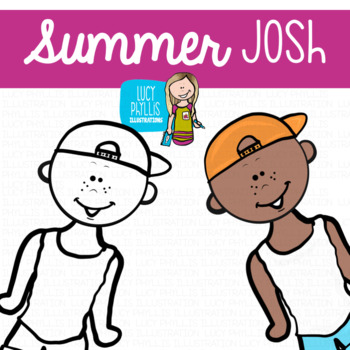 Summer Kids Clip Art (Lucy Phyllis Illustrations)