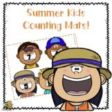 Summer Kids Counting Mats for Preschool\Pre-K