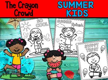 Summer Kids - The Crayon Crowd Coloring Pages, End of Year