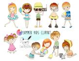 Summer Kids clipart  instant download PNG, JPEG file - 300