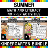 Summer Kindergarten Language Arts & Math Mega Review Bundle