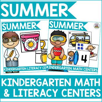 Summer Kindergarten Math & Literacy Centers