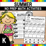 Summer Kindergarten Math Mega Review