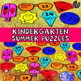 Summer Kindergarten Math Puzzles