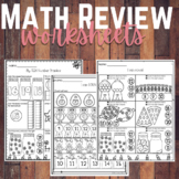 Summer Kindergarten Math Review Worksheets