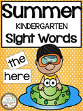 Summer Kindergarten Sight Words