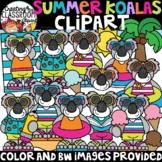 Summer Koalas Clipart {Summer Clipart}