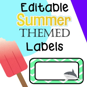 Editable Summer Labels