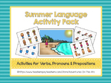 Summer Language Activity Pack