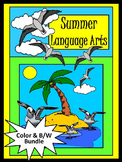 Summer Worksheet Activities: Summer Language Arts Activity Packet Bundle