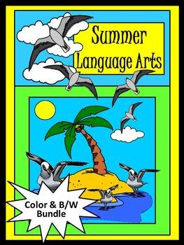 Summer Worksheet Activities: Summer Language Arts Activity Packet Bundle