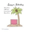 Summer Language Arts Activities