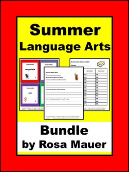 Summer Language Arts Bundle