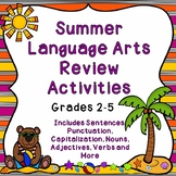 Summer Language Arts Review Activities