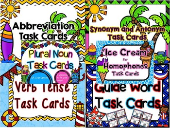 Summer Language Arts Task Card Bundle