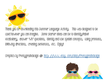 Summer Language Building Activity