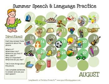Summer Language Calendars