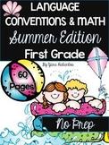 Grammar and Math Printables First Grade Summer Review