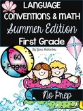Grammar and Math Printables First Grade Summer Review