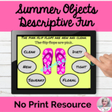 Summer Language Descriptive Fun with Adjectives NO PRINT T