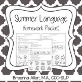 No Prep Summer Language Homework Packet