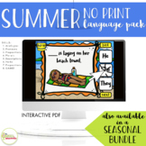NO PRINT Summer Language Pack