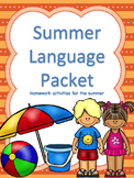 Summer Language Homework