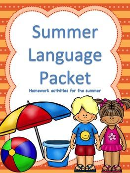 Summer Language Packet