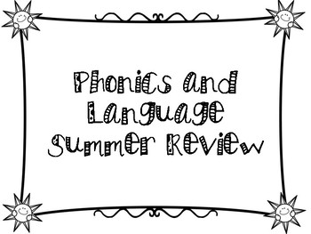 End of 2nd Grade Summer Themed  Language Review