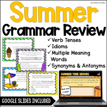 Summer Language Task Cards {4th and 5th Grade}