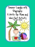 Summer Laughs with Diagraphs - A Write the Room and Word Sort