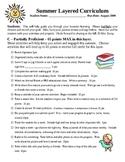 Summer Layered Curriculum