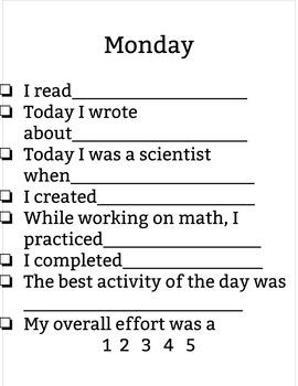 Summer Learning Checklist
