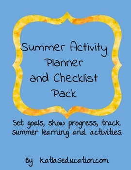 Summer Learning Checklist