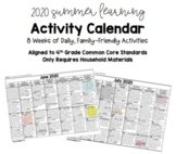 Summer Learning Daily Activity Calendar - Grade 4 Standard
