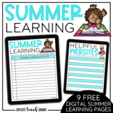 Summer Learning Digital Pages | Distance Learning | Use wi