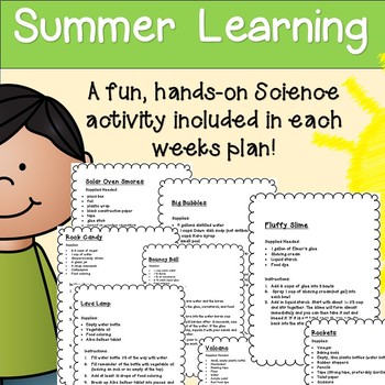 Summer Learning Folder - 3rd Grade Entering 4th - 8 Weeks of Learning & Fun!
