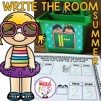 Summer Learning Hunt - Write the Room- I Spy ELA/Math Centers