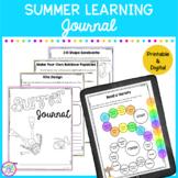 Summer Learning Journal - Prevent The Summer Slide PDF & Google Slides Versions