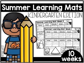 Summer Learning Mats: Kindergarten Edition Distance Learning