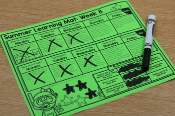 Summer Learning Mats: Second Grade Edition Distance Learning