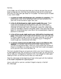 Summer Learning Packet Intro Letter - Editable