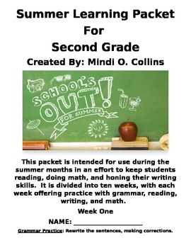 Summer Learning Packet for Second Grade