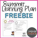 Summer Learning Plan Freebie
