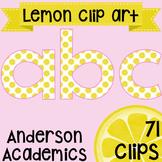 Summer Lemon Alphabet Clip Art