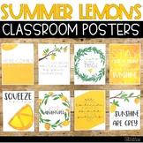 Summer Lemons Classroom Posters - 5 Minute Bulletin Board!