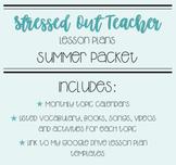 Summer Lesson Plans