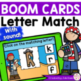 Summer Letter Match Digital Game Boom Cards™ Distance Learning